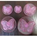 Бабочки ажурные, 5 плунжеров