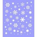 Снежинки (НГ48), трафарет пластиковый