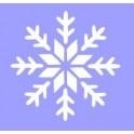 Снежинка-28, трафарет пластиковый