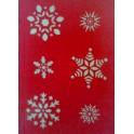 Снежинки (С053), трафарет пластиковый