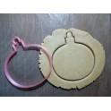 Елочная игрушка шар (К002). Пластиковая вырубка