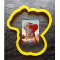 Тедді з сердечком (К063). Пластиковая вырубка