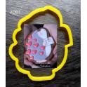 Їжачок з листом (К081). Пластиковая вырубка