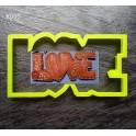 LOVE (К093). Пластиковая вырубка