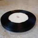 Лента атласная Черная 0,6 см. Рулон 23 м
