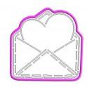 Конверт із серцем, Пластикова вирубка