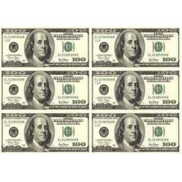 100 долларов, вафельный лист А4 6 шт 14х6 см - Кладовая кондитера ...