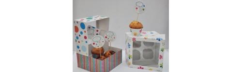 :: Коробки картонные для кексов, капкейков, пряников
